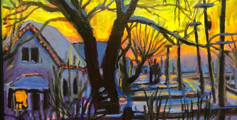 Dennis Smith   Winter Sunset
