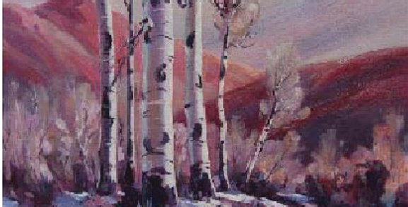 Milton (Ted) Wassmer | Landscape with Aspens