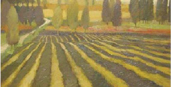 Kathy Petersen | Landscape with Rows in a Field