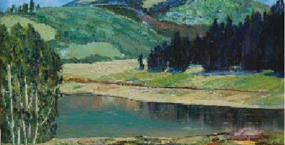 John H. Stansfield | Landscape with Lake
