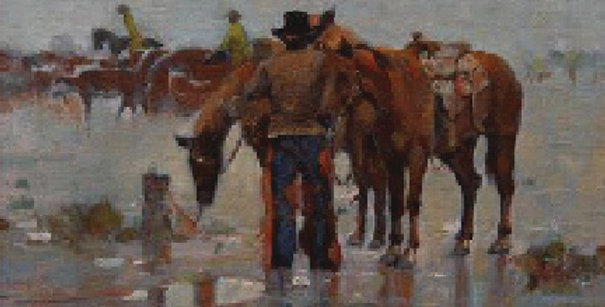 Irby Brown | Cowboys in the Rain