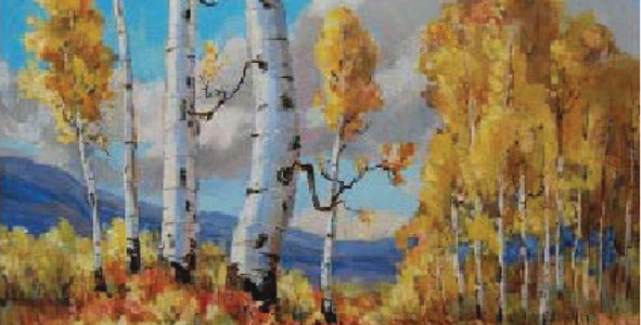 Milton (Ted) Wassmer   Landscape with Aspens