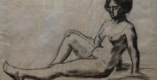A.B. Wright   Sitting Female Nude