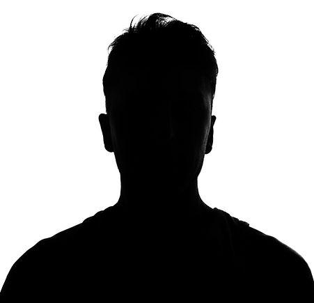 silhouette studio shot isolated on white