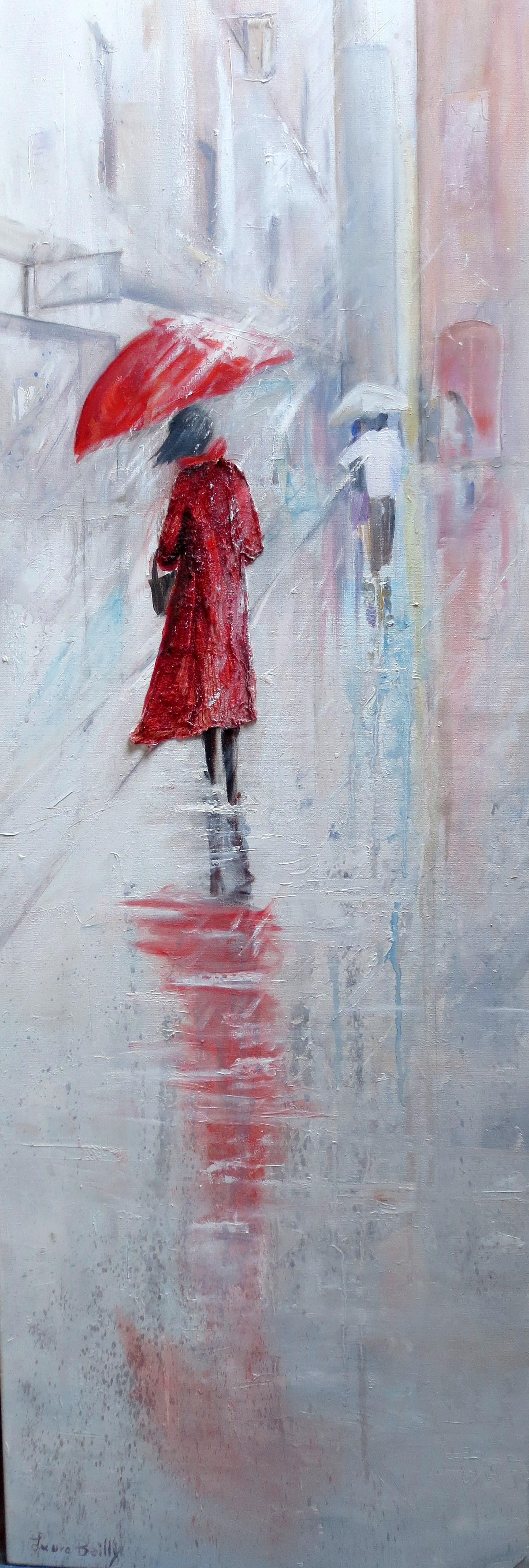 femme rouge 150x50