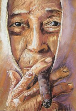 femme au Cigare Birmanie