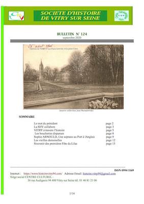 Le bulletin n°124 est paru
