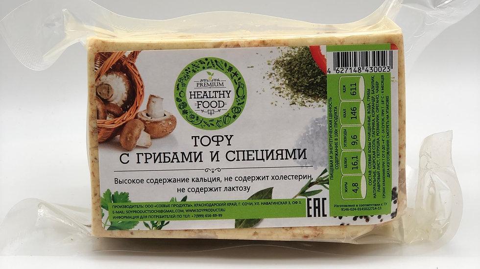 Тофу с грибами и специями