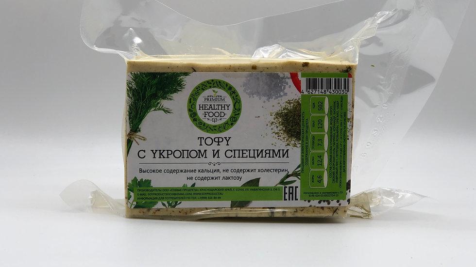 Тофу с укропом и специями