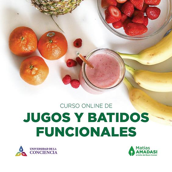 Curso de Jugos y Batidos funcionales SEPTIEMBRE (pago en $ argentinos)