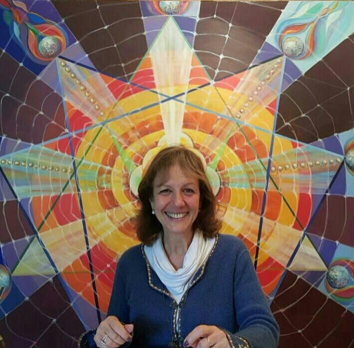 Lucia Inserra y su cuadro de la matriz del eneagrama