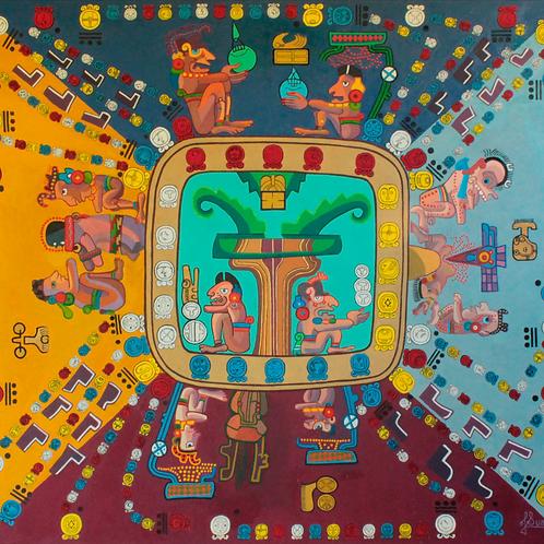 Códice de Dresde Maya. Jeroglifos Mayas
