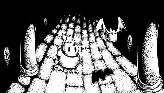 Devwill Too ZX MSX BW Artwork