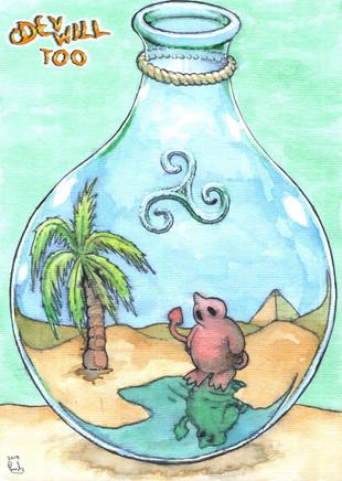 Life Bottle - Watercolor