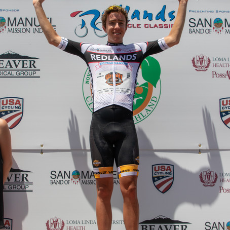2018 Redlands Bicycle Classic Stage 3 - The City of Highland Circuit Race Moving into the White Jers