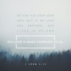 His Love made complete in us