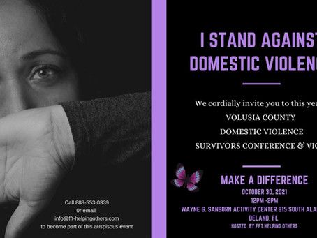 I STAND AGAINST DOMESTIC VIOLENCE VIGIL and FREE CONFERENCE