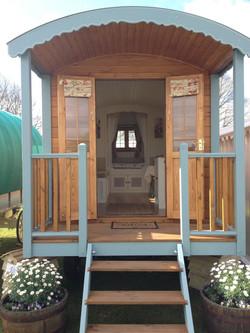 Gypsy caravan with balcony