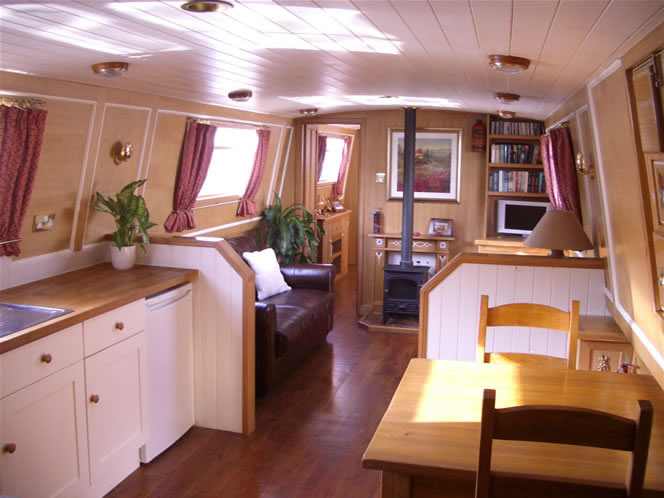 Widebeam house boat saloon
