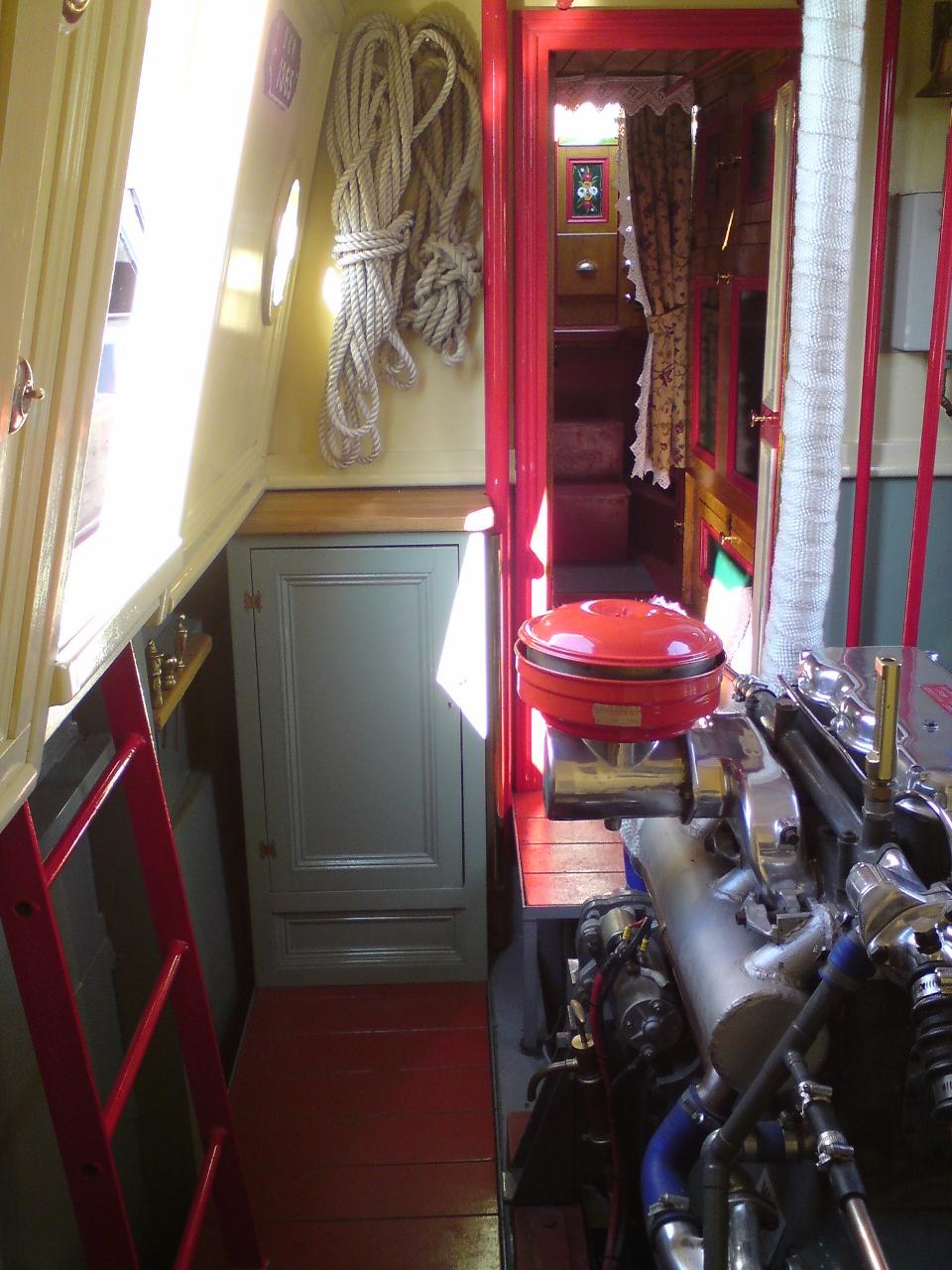 Boat engine room Gardener 3LW