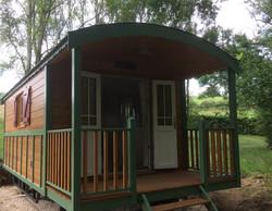 French gypsy caravan with porch