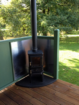 Outside wood burner