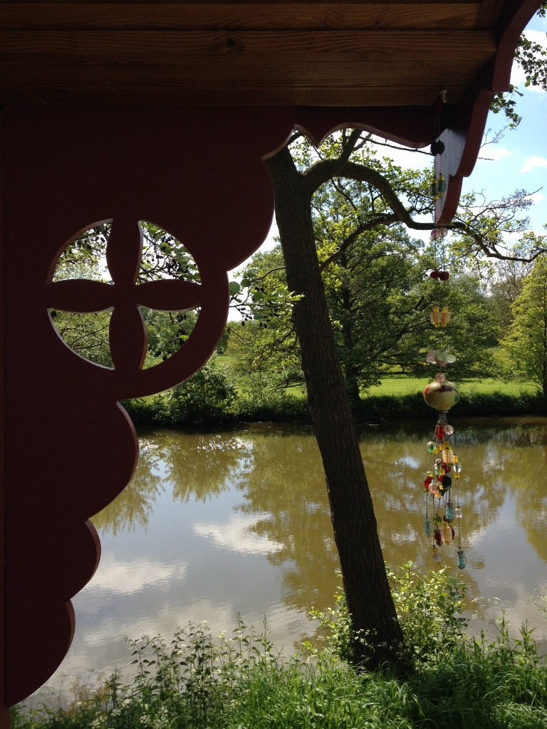 Red Gypsy Caravan lake view