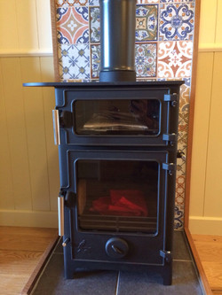 roulotte woodburner with oven