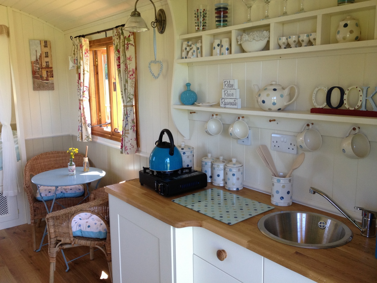 Large shepherds hut interior