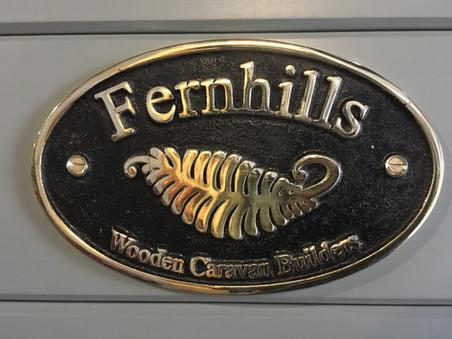 Brass plaque on all caravans