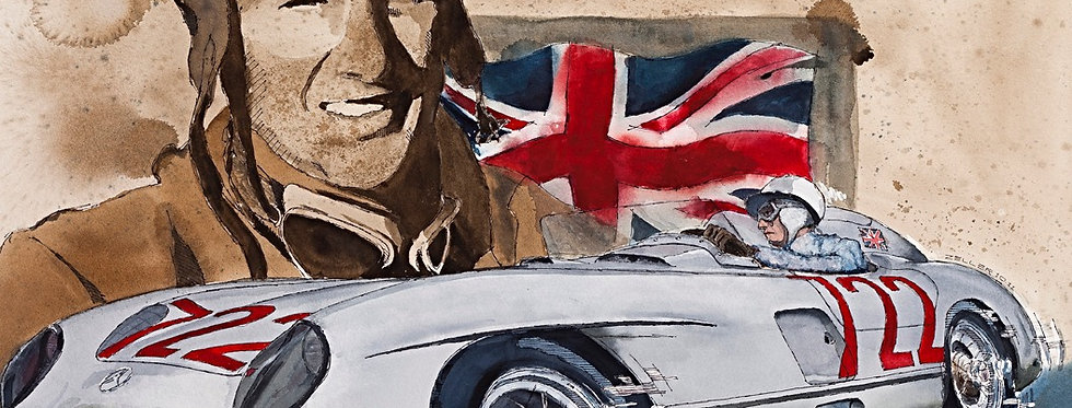 Stirling Moss and Mille Miglia Print