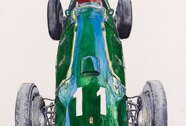 Green Ferrari Tipo 125 Print