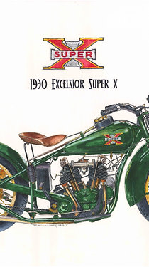 1930 Excelsior Super X Motorcycle