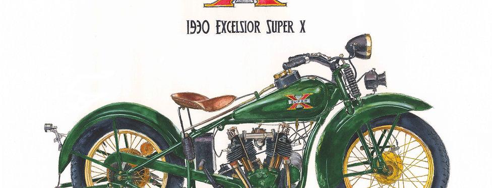 1930 Excelsior Super X Print