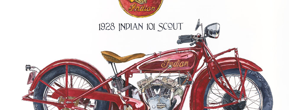 1928 Indian Motorcycle Print