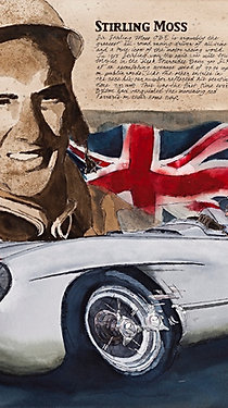 Stirling Moss and 722 Mille Miglia Winner