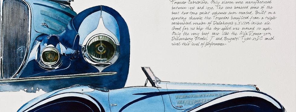 Delahaye Roadster Print