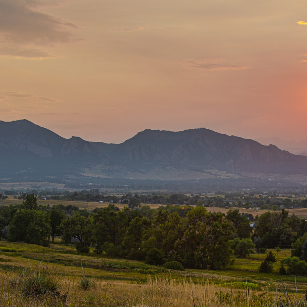 CO_Louisville_Davidson Mesa_Divide_Sunse