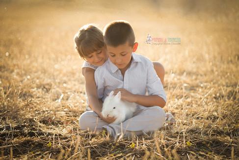 foto bambnini e animali roma