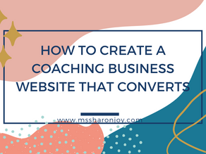 How to create a coaching business website that converts
