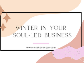 Winter in your soul-led business