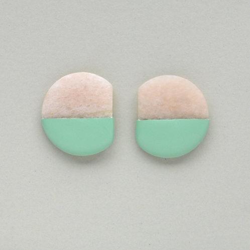 DIPPED pink marble earrings