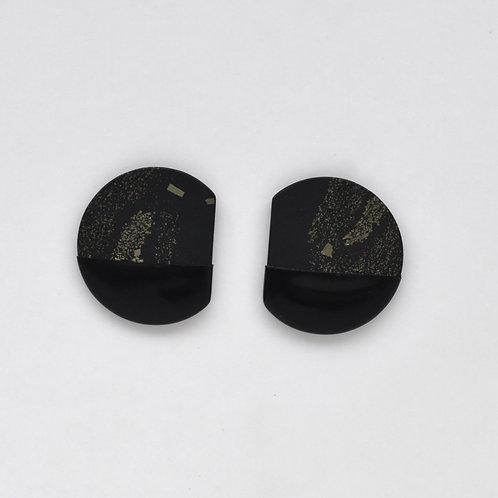 DIPPED pyrite slate earrings