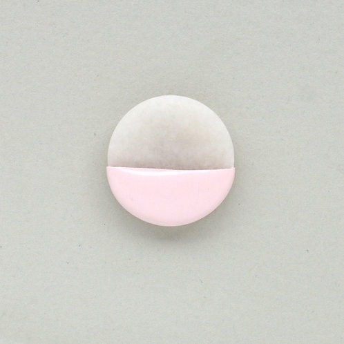 DIPPED marble pin, pink