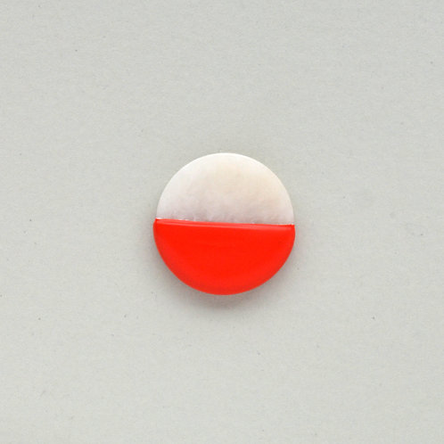 DIPPED marble pin, red