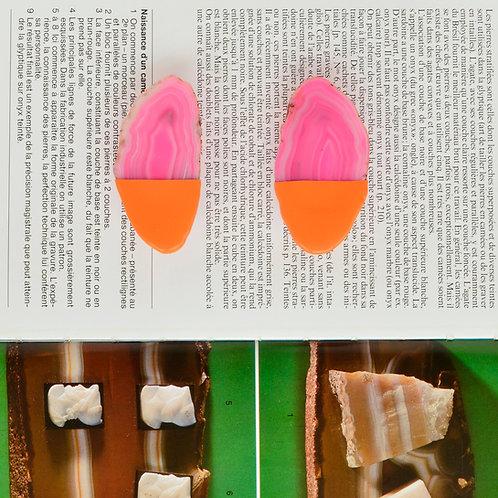 A.GATE POWER earrings pink orange