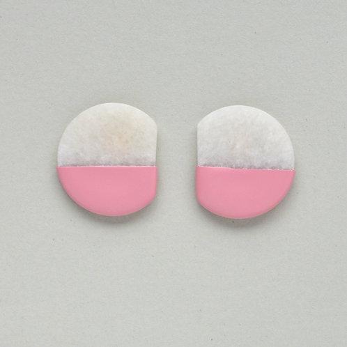 DIPPED marble earrings,  pink