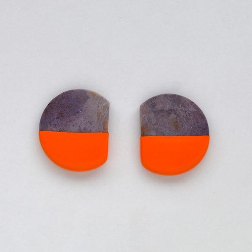 DIPPED lavender jade earrings