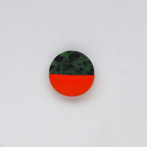 DIPPED ruby zoisite pin
