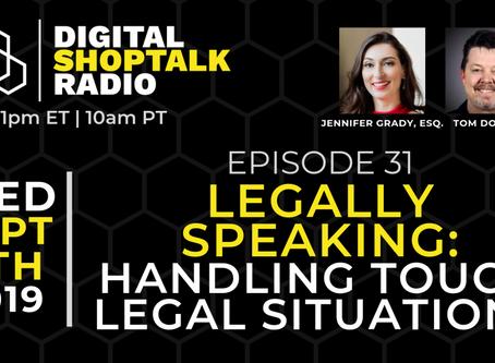 Jennifer Grady Navigates Tricky Legal Situations in the Workplace on AutoVitals Digital Shoptalk Rad
